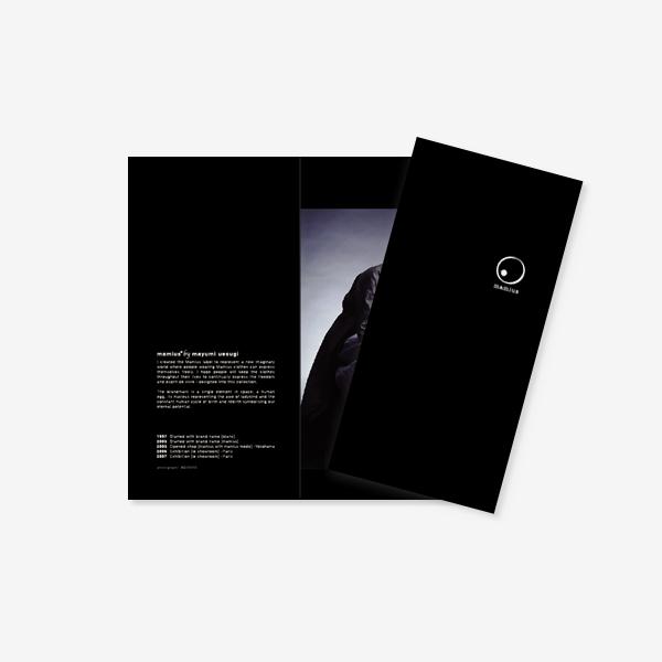 mamius マミウス|Fashion Brand Brochure [English ver.]|グラフィックデザイン|ファッション アパレル|横浜市