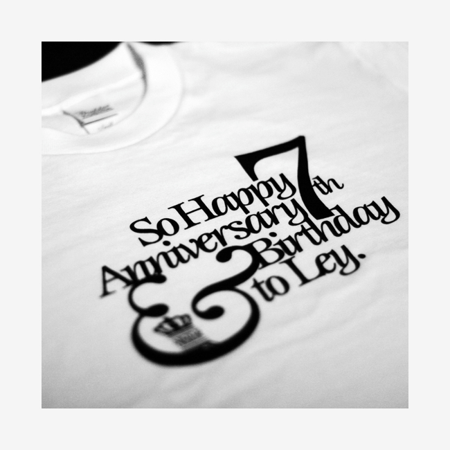 Hair and beauty salon Ley|happy 7th anniversary original T-shirts|グラフィックデザイン|神奈川県横浜市