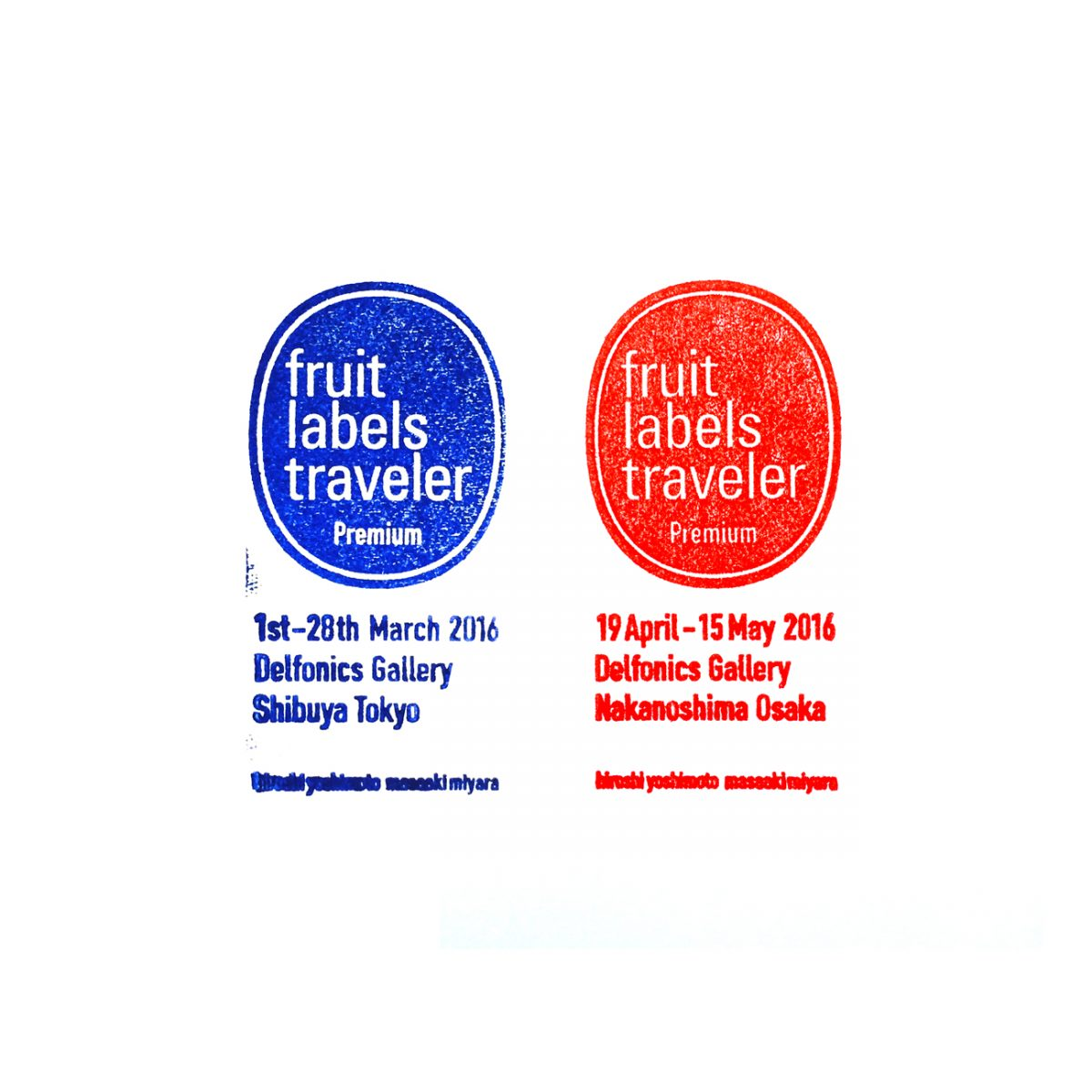 Fruit labels traveler