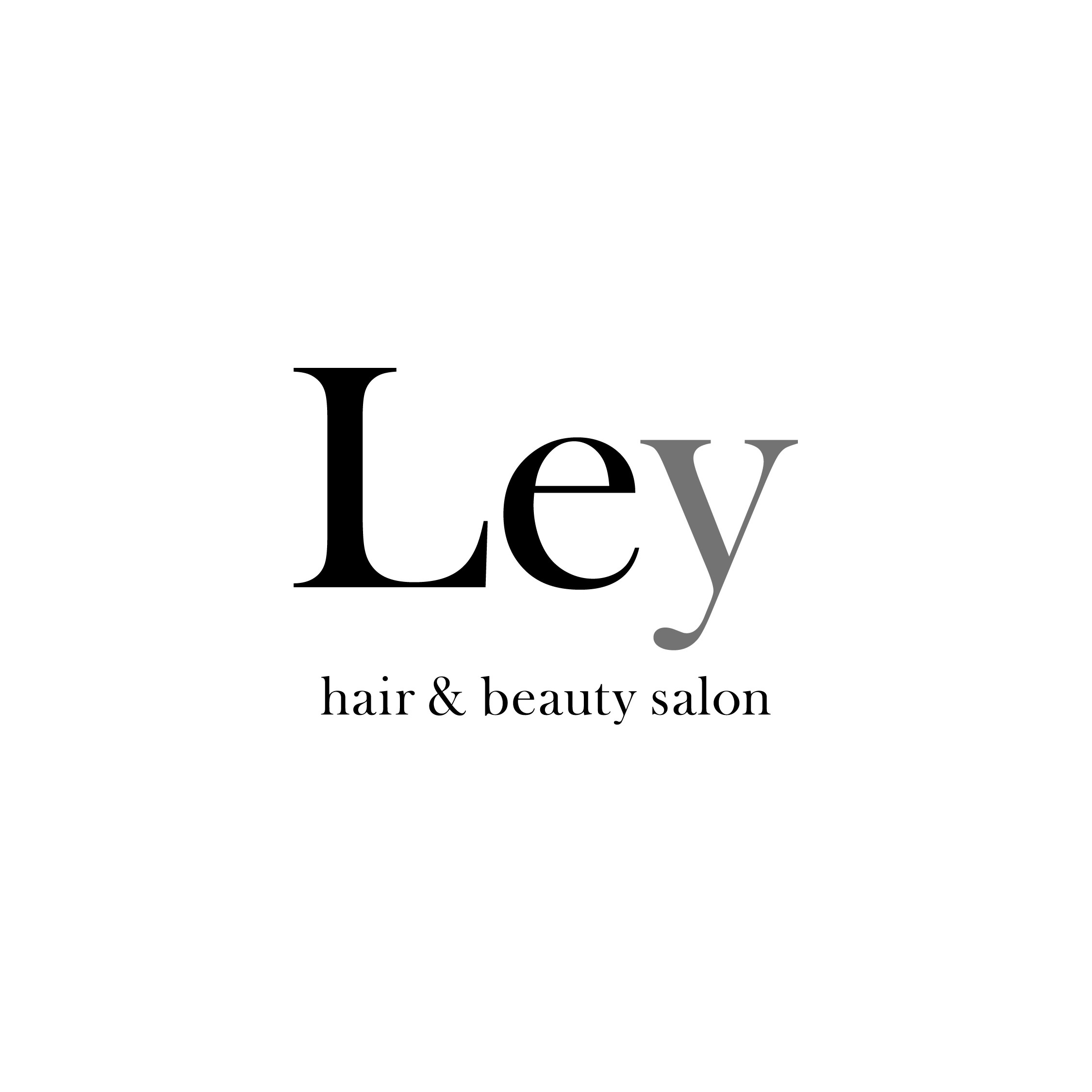 Hair and beauty salon Ley|CIロゴデザイン グラフィックデザイン ブランドデザイン|美容室・ヘアサロン|神奈川県横浜市