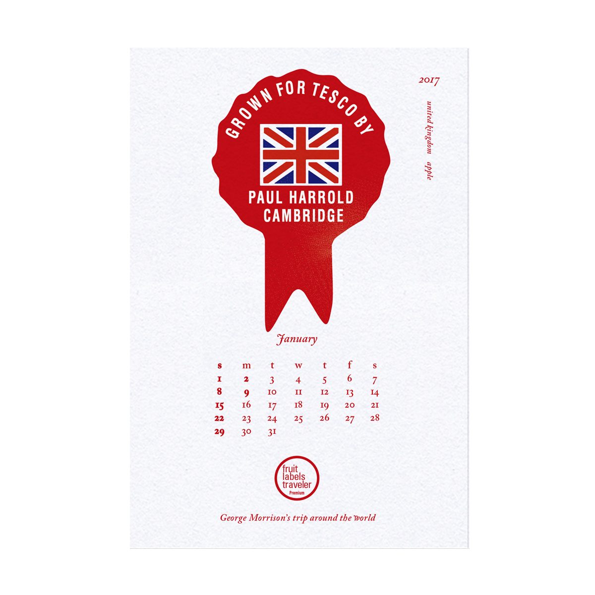 1 JANUARY_ United Kingdom / apple   George Morrison's Trip Around the World