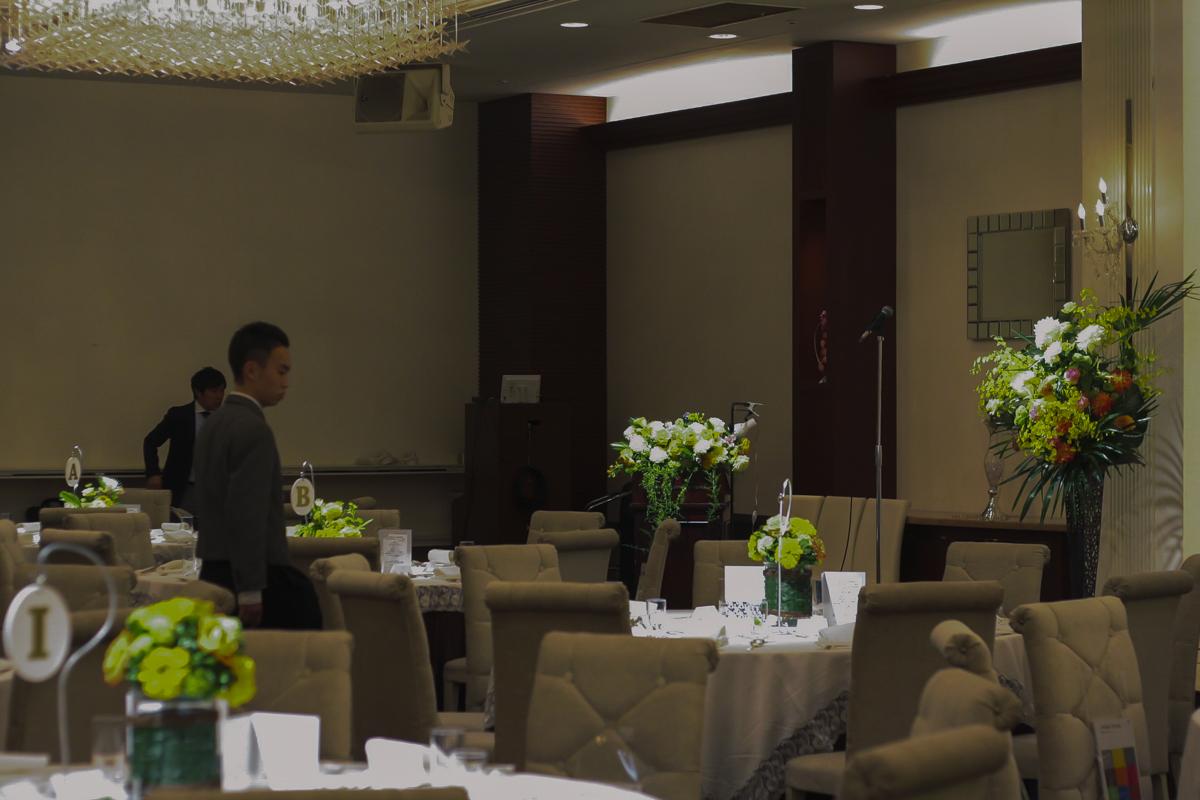 30周年記念パーティー|ホテル会場風景|演台