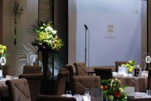 30周年記念パーティー|ホテル会場風景|ステージ