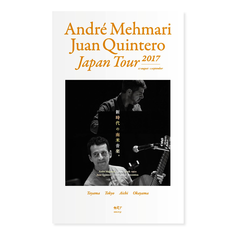 André Mehmari - Juan Quintero, Japan Tour 2O17 / leaflet - flyer