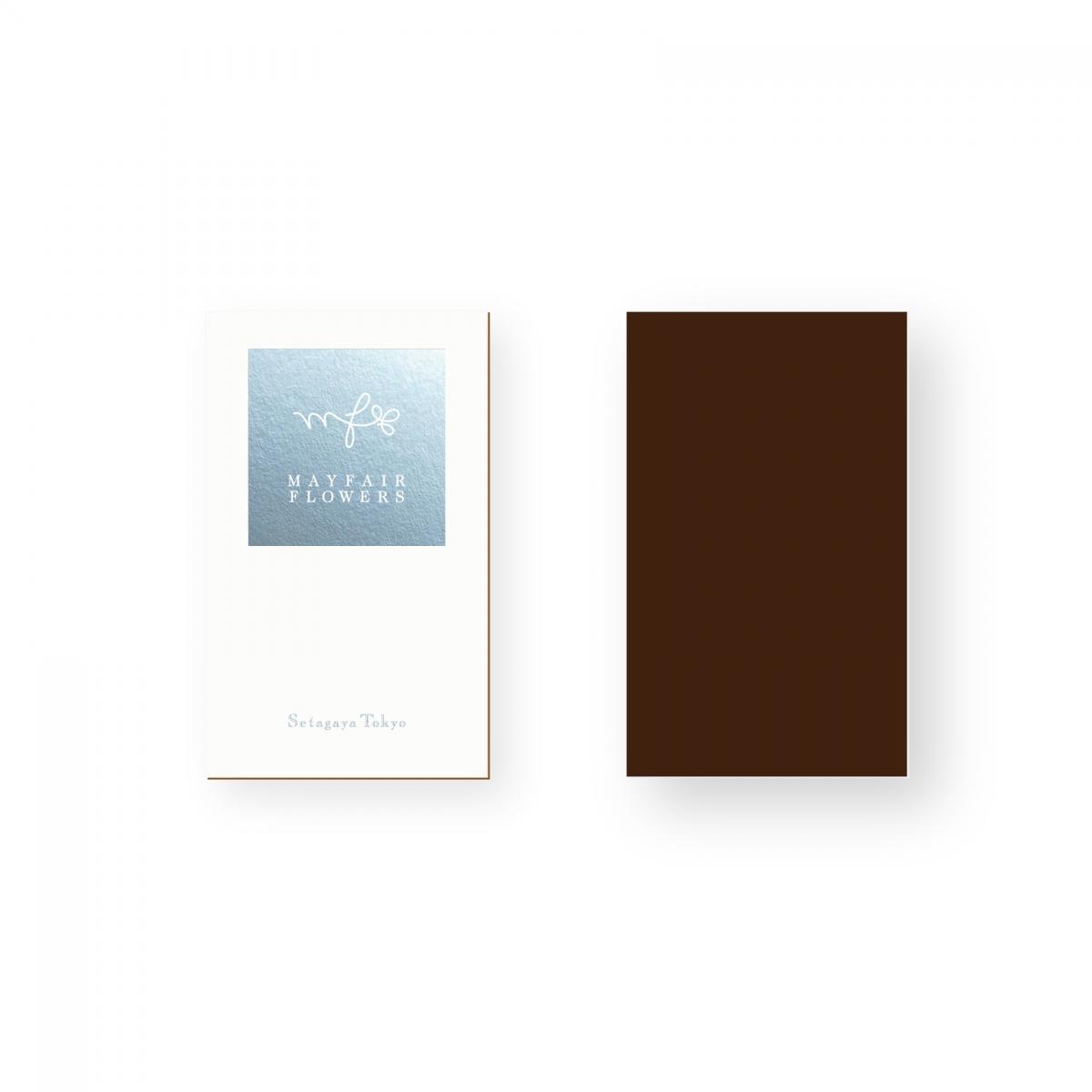 メイフェア・フラワーズ 合紙カード 銀箔押し プリントデザイン グラフィックデザイン