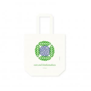 雨、北鎌倉 ロゴシンボル・デザイン トートバッグ シルクスクリーン印刷 コットン