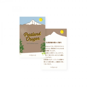 tsukigoya|Go to PORTLAND|カードデザイン