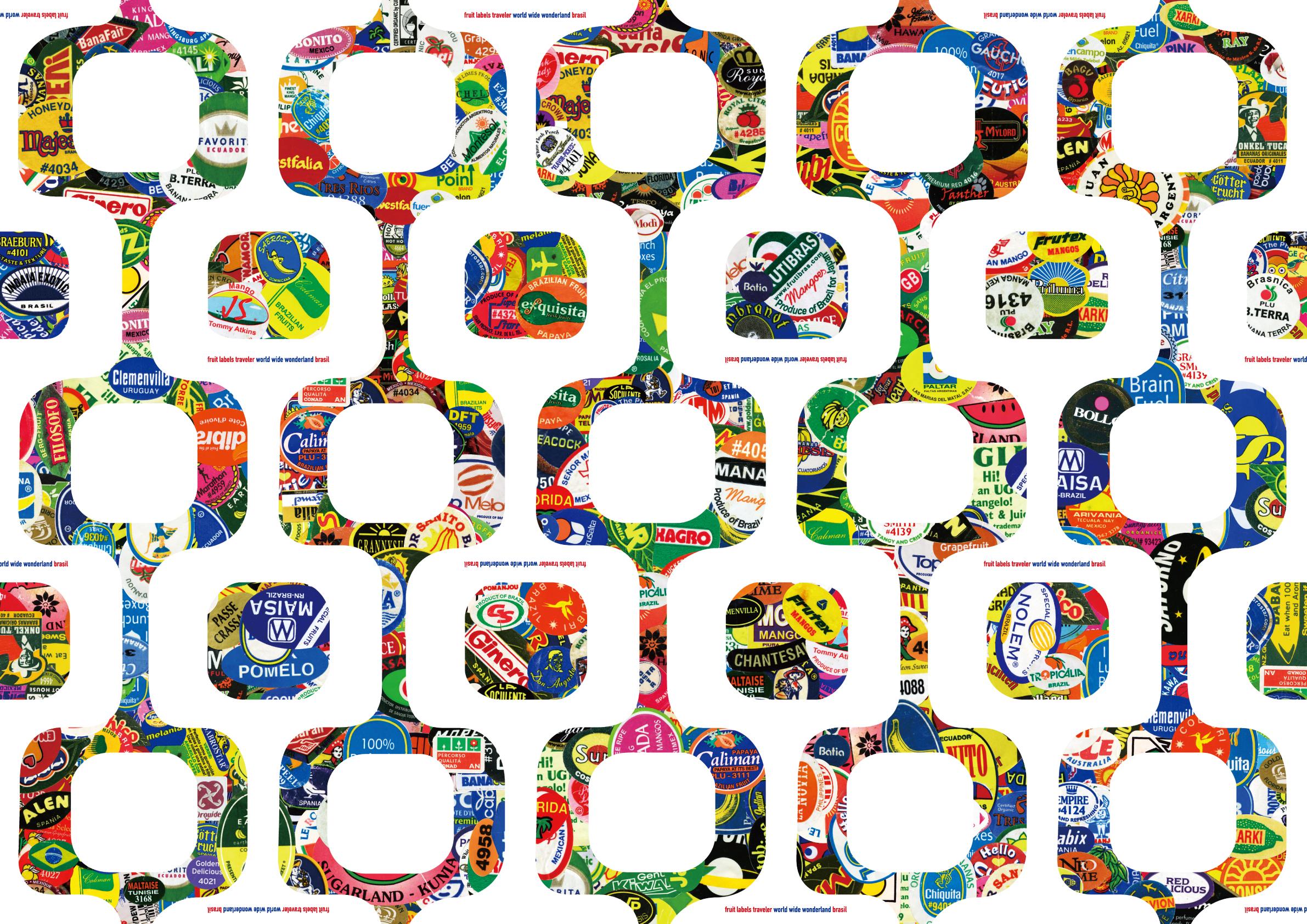 包装紙 Wrapping Paper ブラジル|fruit labels traveler|旅するフルーツシール展
