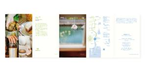 ハンモックカフェ|パンフレット|外五つ折|グラフィックデザイン ブランドデザイン