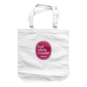 Fruit Labels Traveler 旅するフルーツシール展 キャンバス・トートバッグ 赤版