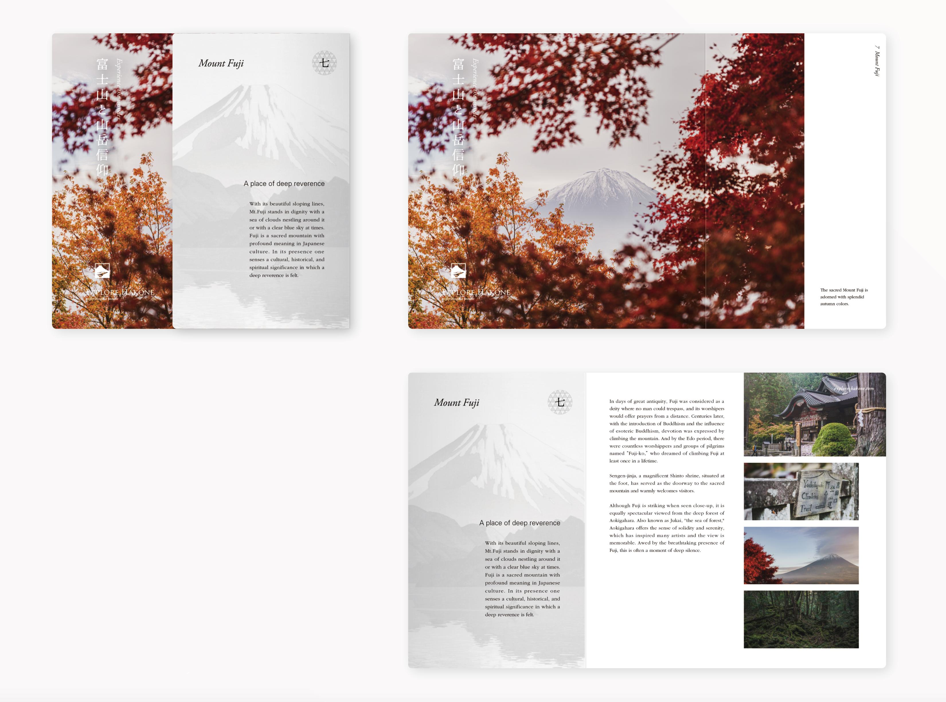 グラフィックデザイン パンフレットデザイン パッケージデザイン 編集エディトリアル 神奈川県 箱根 富士山 Mt.fuji