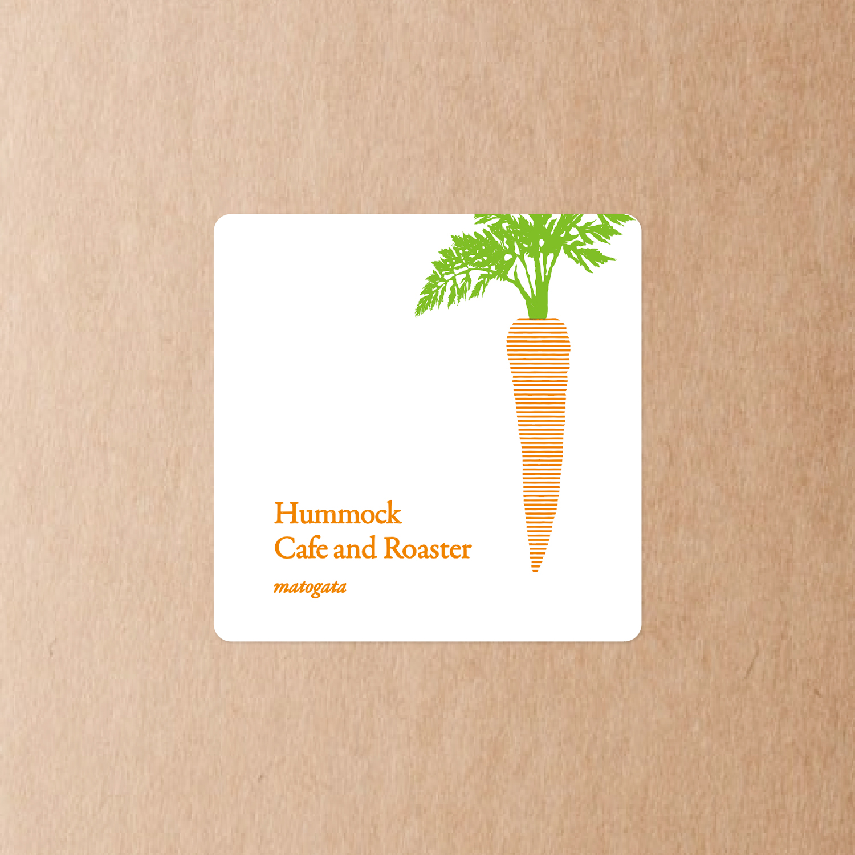 hummock cafe ハンモックカフェ ラベルシール 人参